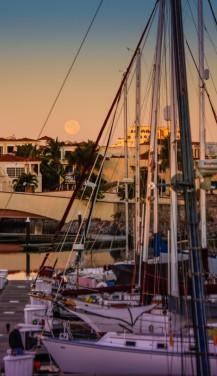Marina Mazatlan Moonset-8637