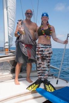 Dad and daughter shellbacks